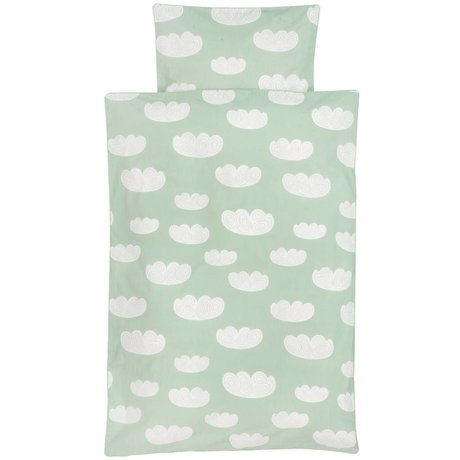 Ferm Living Duvet Cloud clouds mint green cotton 70x100 cm -Baby
