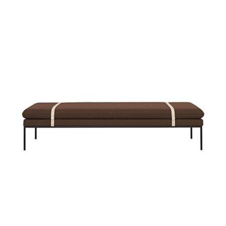 Ferm Living Daybed Turn rust wool nylon 190x80x42,5cm