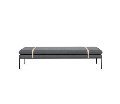 Ferm Living Daybed Turn gray wool nylon 190x80x42,5cm