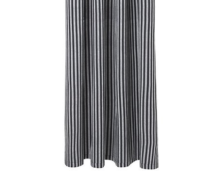 Ferm Living Chambray rideau gris 160x205cm coton gestreepd