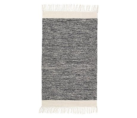 Ferm Living Floor cover Melange black cotton 60x100cm