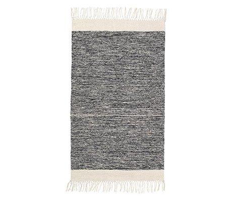 Ferm Living Vloerkleed Melange zwart katoen 60x100cm