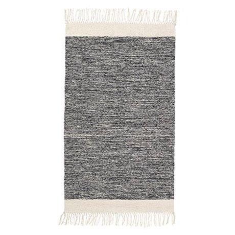 Ferm Living Tapis Melange coton noir 60x100cm