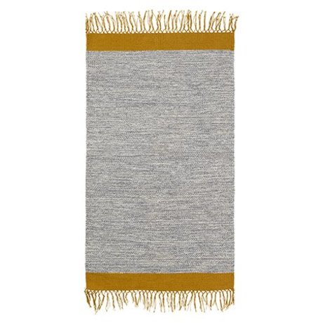 Ferm Living Floor cover Melange gray yellow cotton 60x100cm