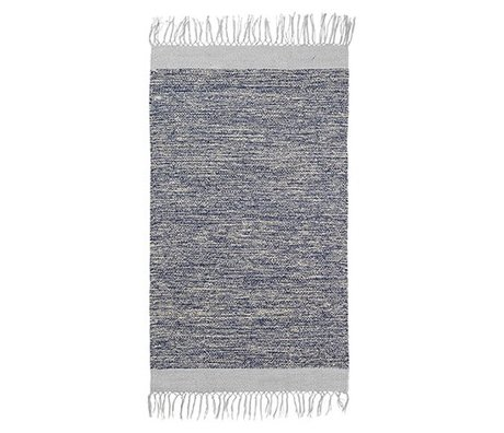 Ferm Living Floor cover Melange blue cotton 60x100cm