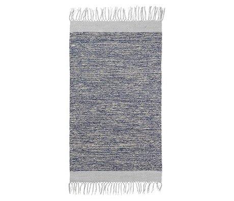 Ferm Living Tapis Melange coton bleu 60x100cm