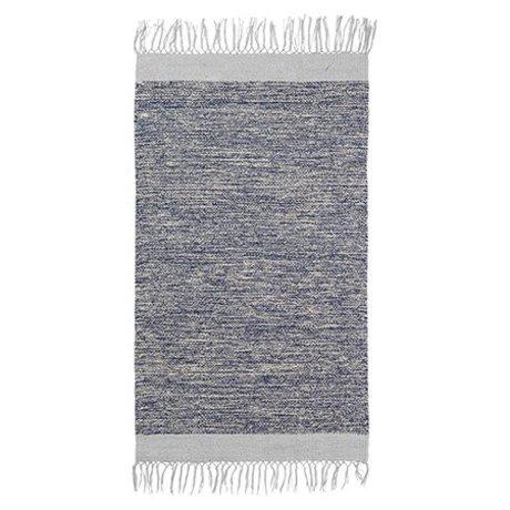 Ferm Living Teppich Melange blau Baumwolle 60x100cm