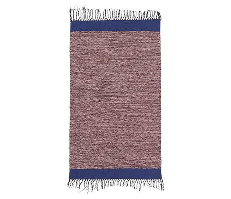 Ferm Living Floor cover Melange pink blue cotton 60x100cm