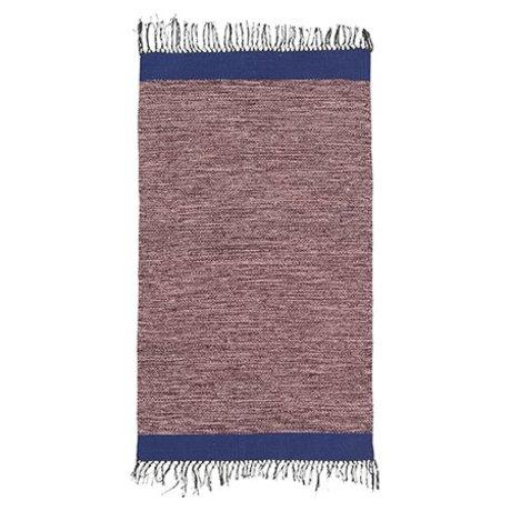 Ferm Living Tapis Melange coton bleu rose 60x100cm