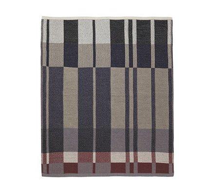 Ferm Living couverture de coton en maille Medley 160x120cm bleu foncé