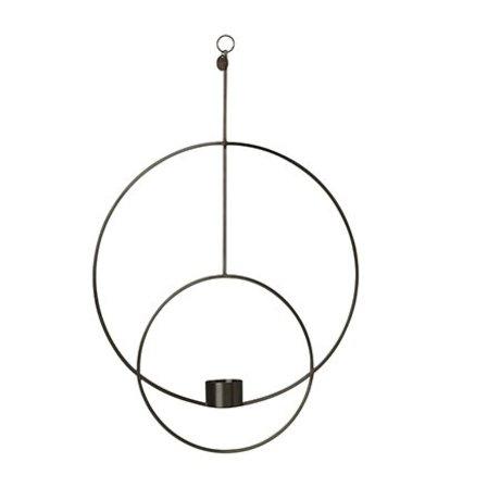 Ferm Living Waxinelichthouder Deco Kreis schwarz Metall 30x45x4.5