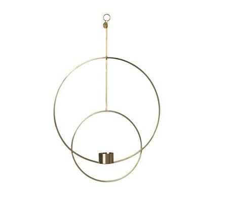 Ferm Living Waxinelichthouder Deco Kreis Gold Metall 30x45x4.5