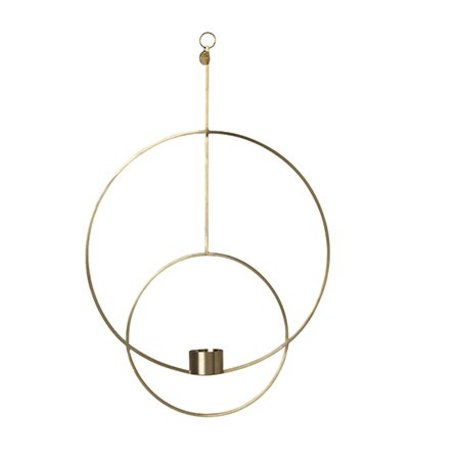 Ferm Living Waxinelichthouder Deco circle gold metal 30x45x4.5