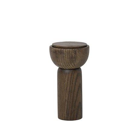 Ferm Living bois Moulin à sel / poivre fumé Ø6.5x12cm