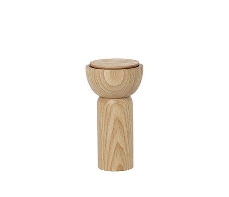 Ferm Living Poivre / moulin à sel en bois naturel Ø6.5x12cm