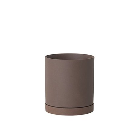 Ferm Living Blumentopf Sekki rotbraune Keramik groß Ø15,7x17,7cm