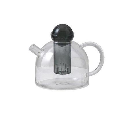 Ferm Living Teapot Still gray glass 17.5x21.5x15cm