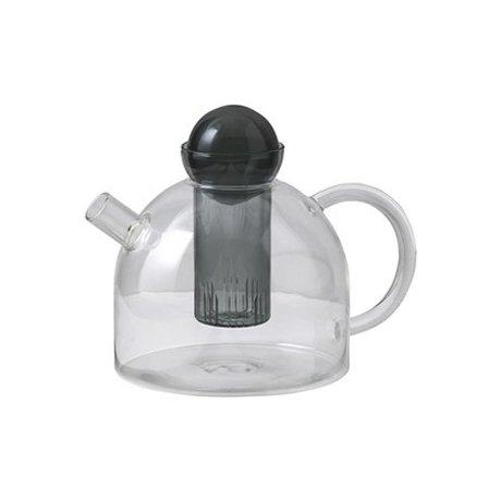 Ferm Living Teapot encore 17.5x21.5x15cm en verre gris