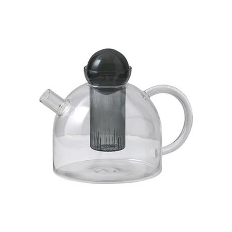 Ferm Living Teekanne noch grau Glas 17.5x21.5x15cm