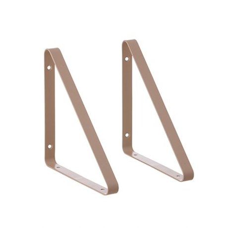 Ferm Living Plank carrier pink metal 24.5x24.5x2.5cm