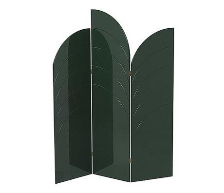 Ferm Living Raumteiler Entfalten glänzend dunkelgrün MDF 150x180x1,8cm