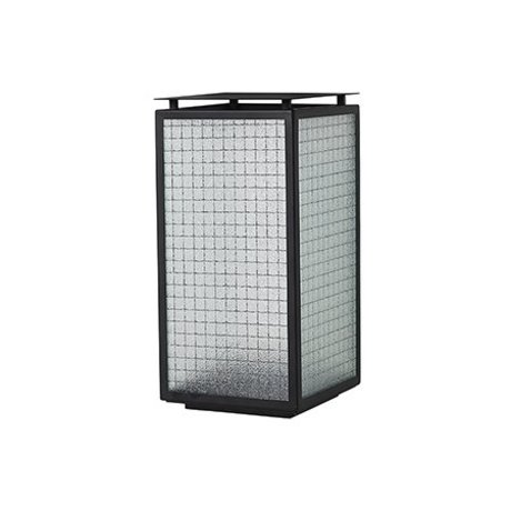 Ferm Living Lantern Haze black steel glass 16.5x16.5x33cm