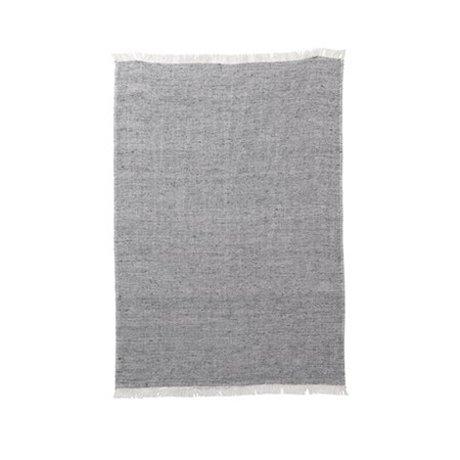 Ferm Living Torchon Blend toile de coton gris 70x50cm