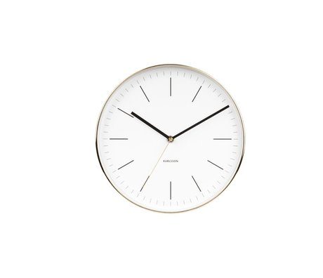 Karlsson Wall clock Minimal white gold steel Ø27.5cm
