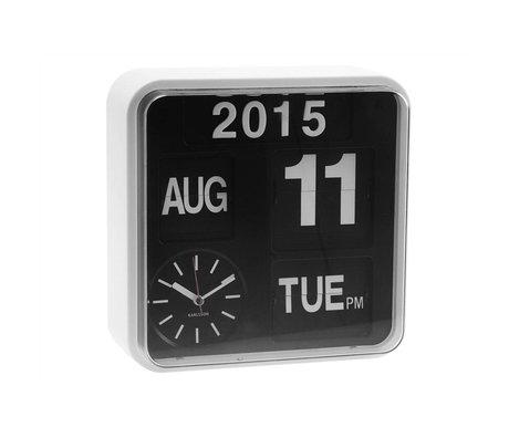 Karlsson Wall clock Mini Flip white plastic 24,5x24,5cm