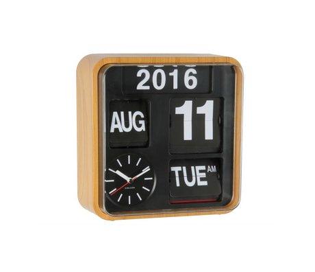 Karlsson Wall clock Mini Flip wood plastic 24,5x24,5cm