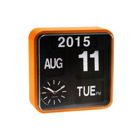 Karlsson Wall clock Mini Flip orange plastic 24,5x24,5cm
