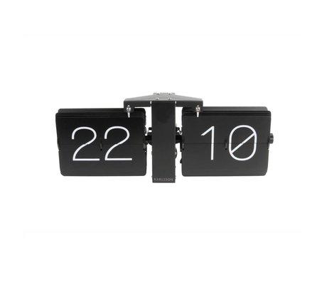Karlsson Keine Uhr Flip Case schwarz Stahl 14x36cm