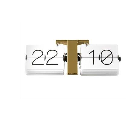 Karlsson Flip klok No Case goud staal 14x36cm
