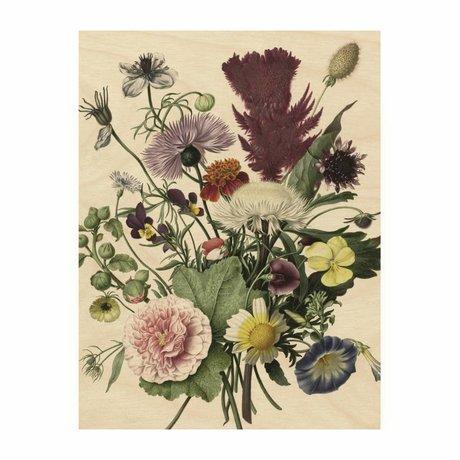 KEK Amsterdam Houten paneel  Wild Flowers S 45x60cm