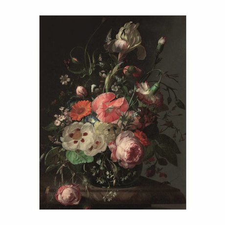 KEK Amsterdam Houten paneel  Golden Age Flowers 3 S 45x60cm