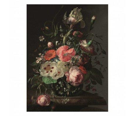 KEK Amsterdam Houten paneel  Golden Age Flowers 3 M 60x80cm