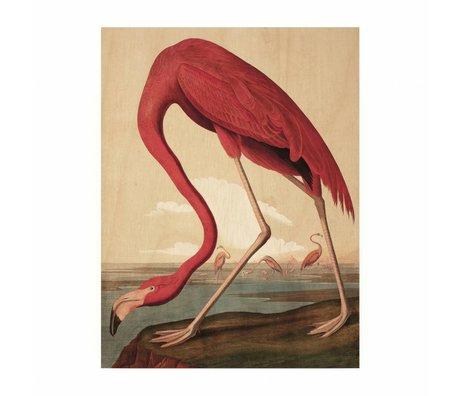 KEK Amsterdam Houten paneel  Flamingo S 45x60cm