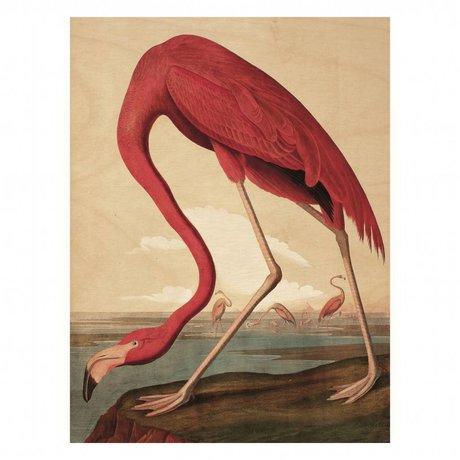 KEK Amsterdam Houten paneel  Flamingo M 60x80cm