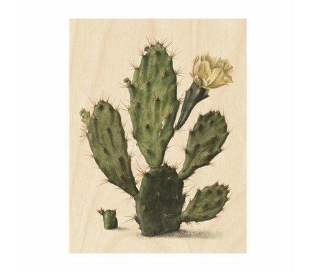 KEK Amsterdam Houten paneel  Botanical Cactus S 45x60cm