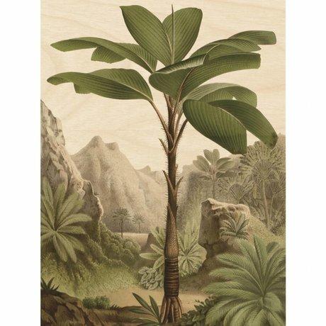 KEK Amsterdam Houten paneel Botanical Banana Tree L 75x100cm