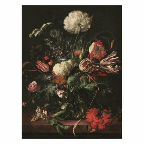 KEK Amsterdam Wooden panel Golden Age Flowers 1 M 60x80cm