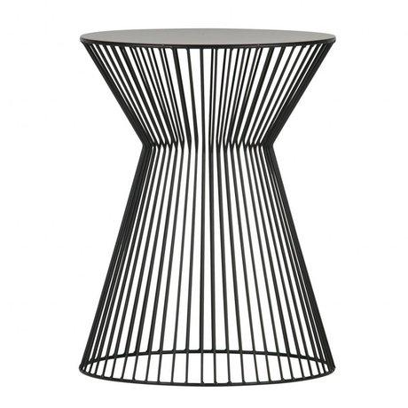 LEF collections Table d'appoint Suus métal noir Ø35x46cm