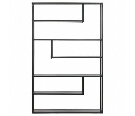 LEF collections Boîte à compartiments Teun en métal noir 120x35x188cm
