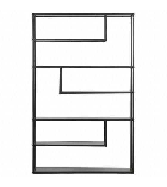 Lef Collections Compartment Box Teun Black Metal 120x35x188cm