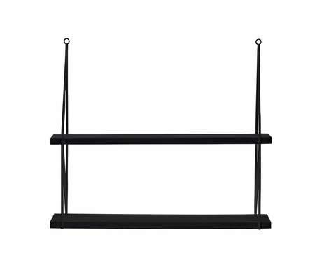 LEF collections Wall shelf corner Meert black metal 36x36x16cm - Copy
