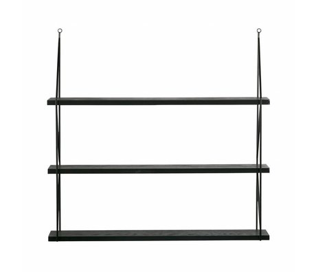 LEF collections Wall shelf corner Meert black metal 36x36x16cm - Copy - Copy