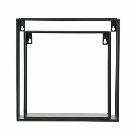 LEF collections Wall shelf Meert black metal 16x50x8cm - Copy