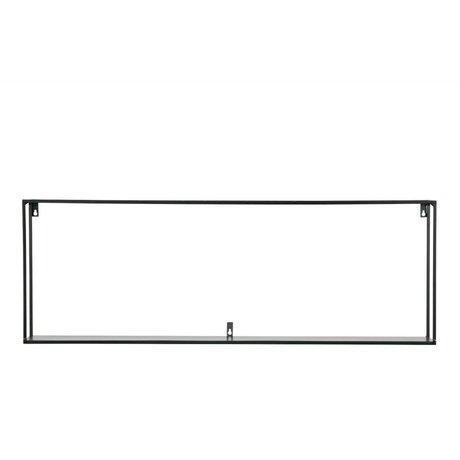 LEF collections wandplank Meert  XXL zwart metaal 100x20x35cm