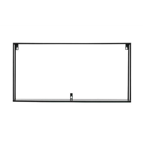 LEF collections wandplank Meert  XL zwart metaal 70x20x35cm