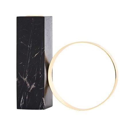 OYOY Kerzenständer aus schwarzem Marmor Metall 15x15,5cm